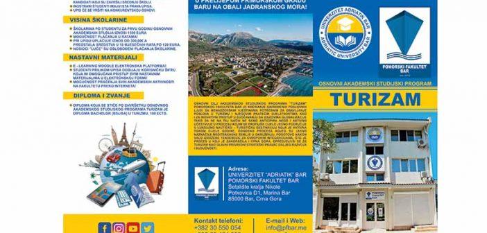 Na Univerzitetu Adriatik počeo upis na novi studijski program – Turizam i hotelijerstvo