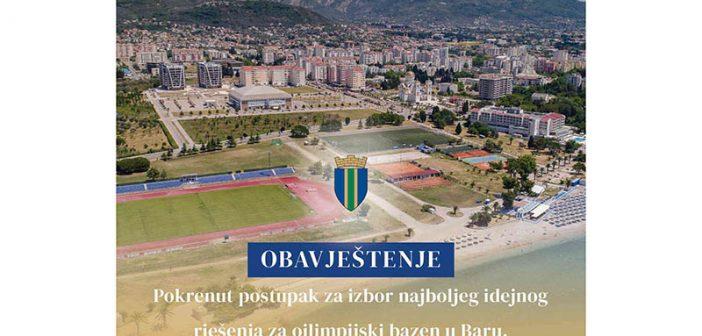 Opština Bar: Pokrenut postupak za izbor najboljeg idejnog rješenja za olimpijski bazen u Baru